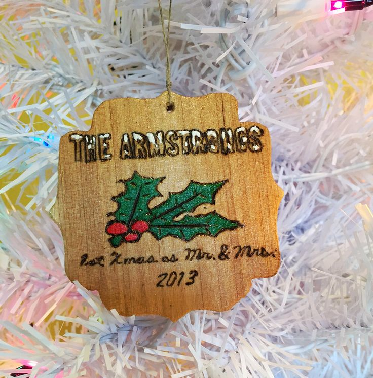 Customizable personalized couple christmas ornament first christmas as Mr and Mrs commemorative gift for newlyweds by EarthDiverCreations on Etsy https://www.etsy.com/ca/listing/475139240/customizable-personalized-couple