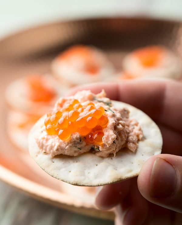 Scandinavian salmon dip. It's a quick and east party appetizer that comes together in about 10 minutes. Recipe on Hunter Angler Gardener Cook http://honest-food.net/