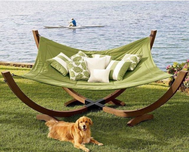 I want one of theses for my back yard. However I think it would become just a large outdoor dog bed .
