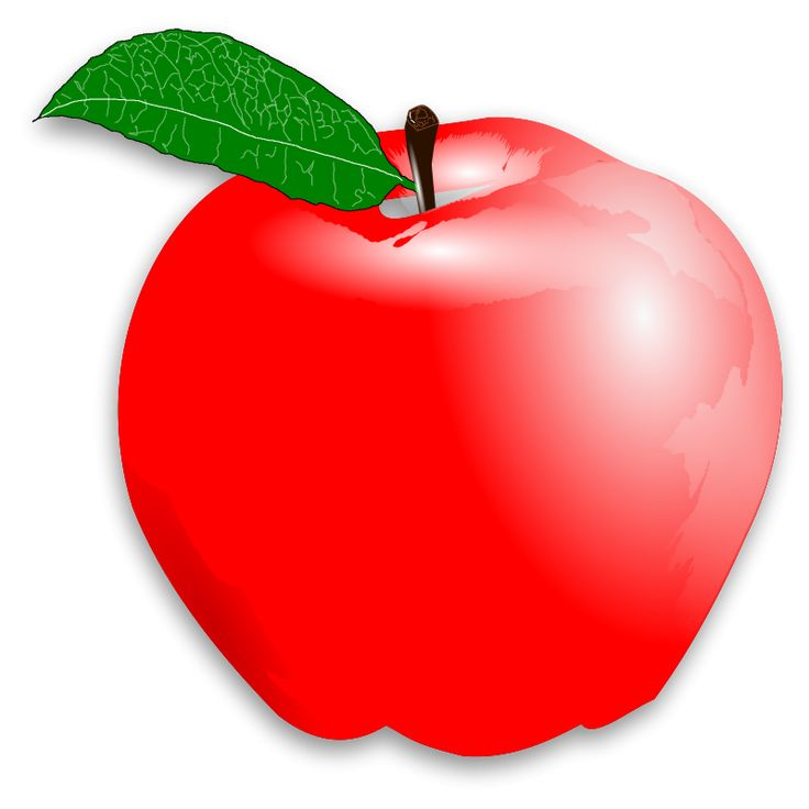 red apple clipart (With images) Apple picture, Apple