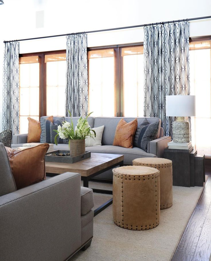 We kept the color scheme monochromatic, a mix of naturals with fresh accents by pulling in shades of gray, cream and taupe. #projectshadycanyon #leatherandhide  @tessaneustadt