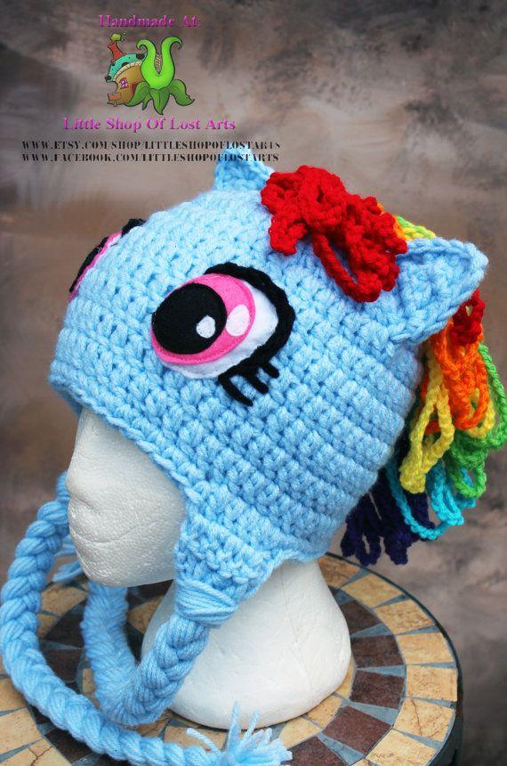 Rainbow dash my little pony MLP inspired by LittleShopOfLostArts