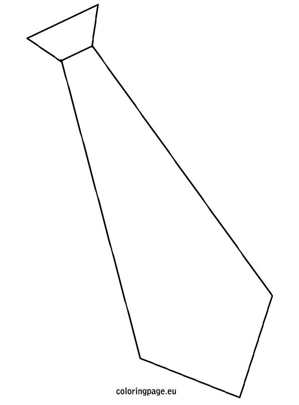 Template tie | Coloring Page