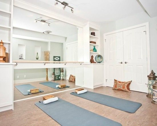 Barre with mirror - Home Gym Inspiration Home Gym Ideas. The easy way to buy or sell your home and maximize your ROI - http://www.LystHouse.com