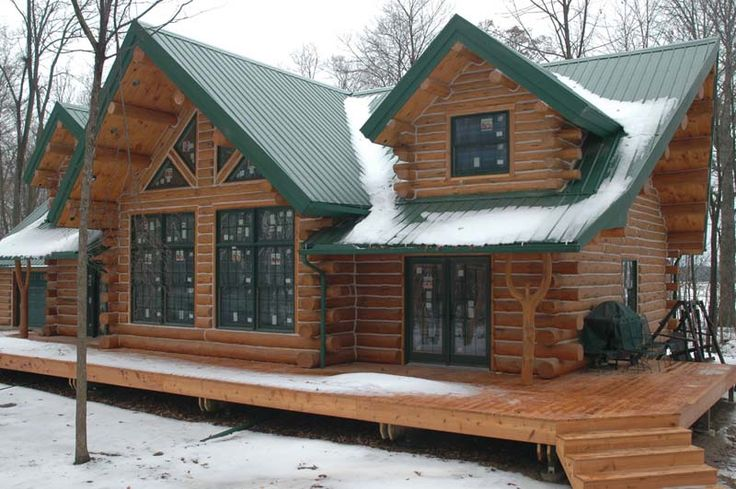 Living in a log home is a beautiful experience. This Splendid Log Home for $56,000 with Must See Int ...