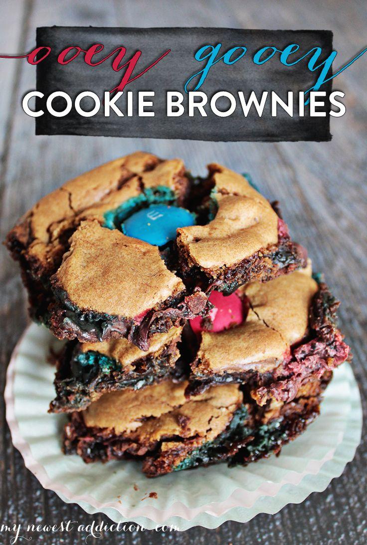 Ooey Gooey Cookie Brownies #HeroesEatMMs #CollectiveBias #shop