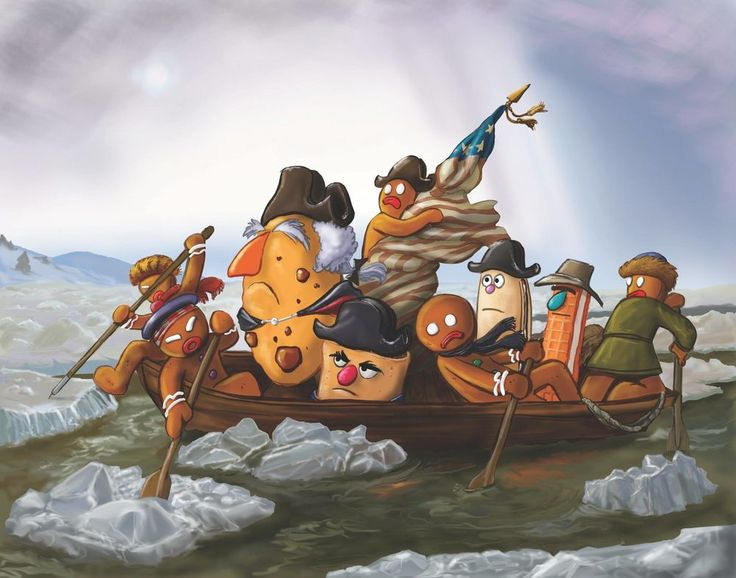 17 Best images about Art Parody: Washington Crossing the Delaware ...