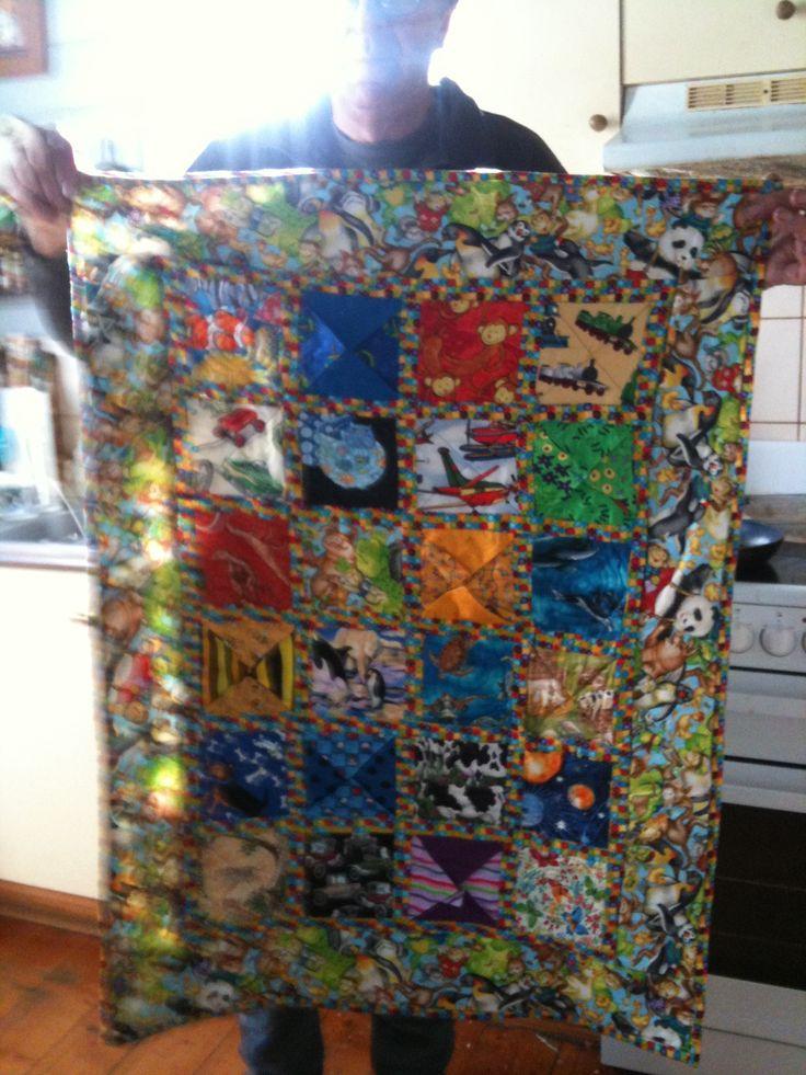 Peek a boo quilt for Fionn grandchild no 9