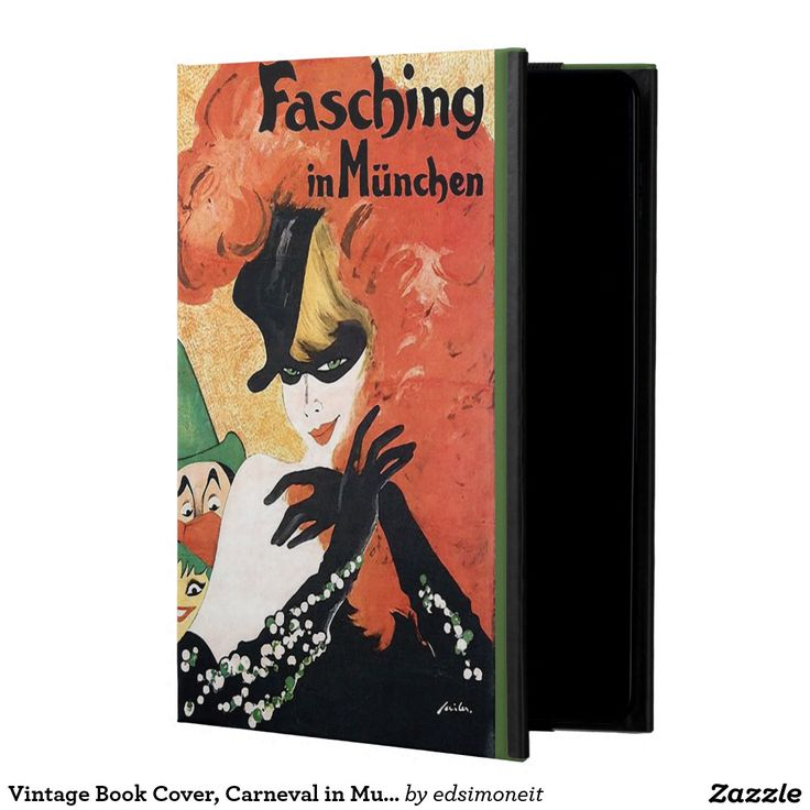 Vintage Book Cover For Ipad : Vintage book cover carneval in munich ipad air