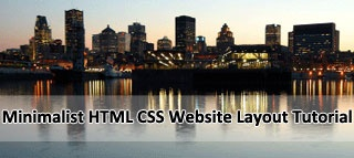 How to code mimimalist HTML and CSS website layout