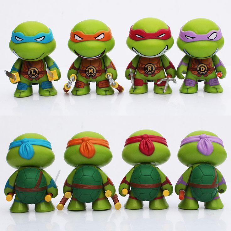 Teenage Mutant Ninja Turtles figures keychain 7cm 4pcs/lot Action TMNT Figure Toys Dolls Raphael TURTLES Free Shipping