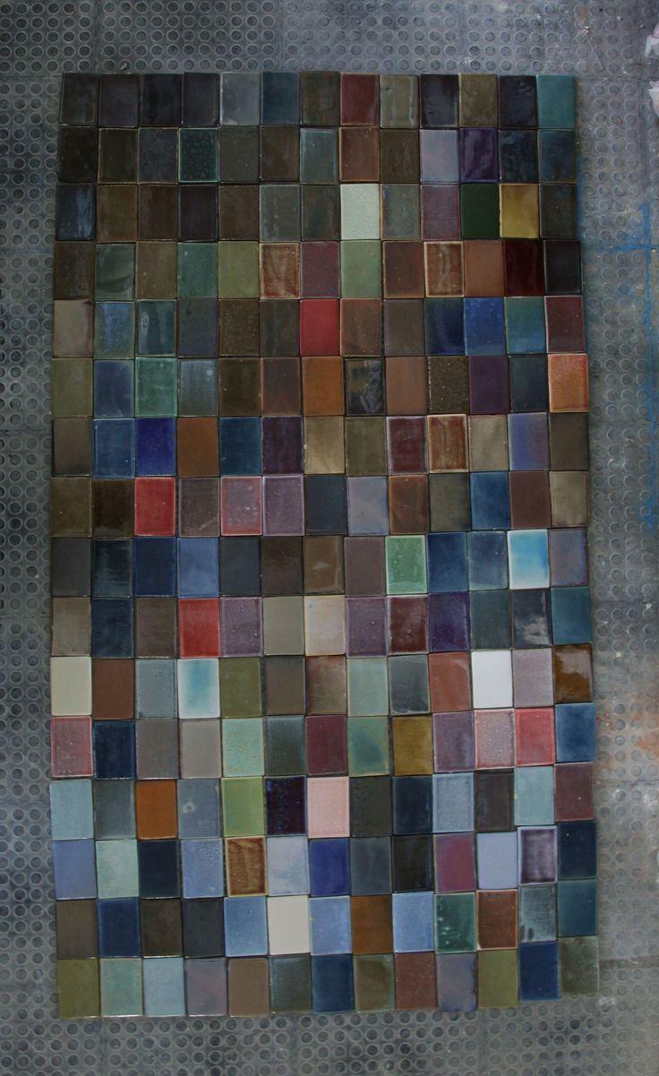 100x150mm handmade ceramic 'pages' for Nando's Dublin
