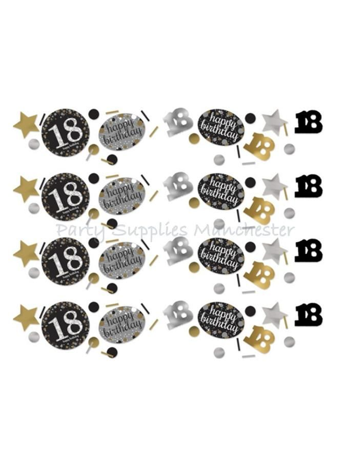 18th Birthday Table Confetti Sprinkles 18th Birthday party decorations