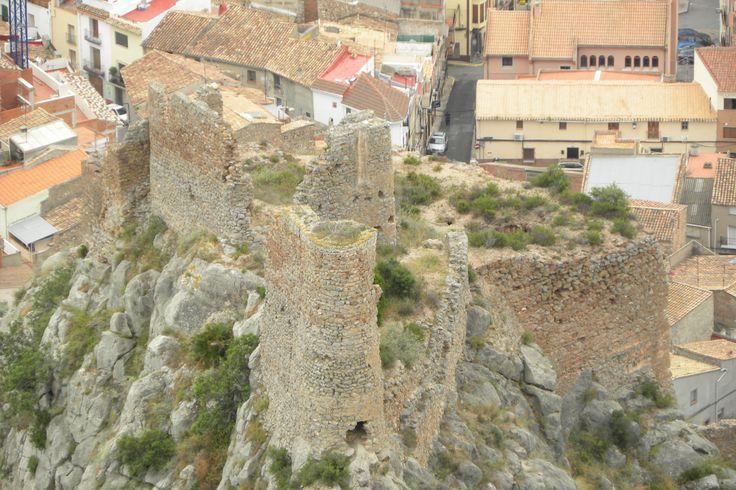 Vista del Castell de Borriol des de la Roca de la Dama