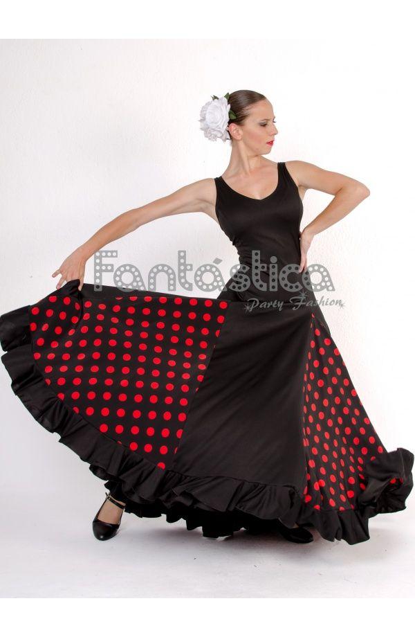 eeff9c75d Vestido de Flamenca   Sevillana para Niña y Mujer Color Negro y Rojo ...