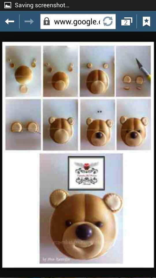 Icing teddy bear