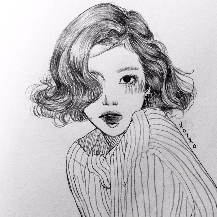 Girl figure sketch