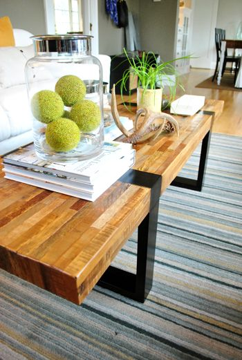 Young House LoveCoffe Tables, Dining Room, Coffee Tables, Wood Grains, Barrels, Home Decor Ideas, Living Room, Young House Love, Glasses House
