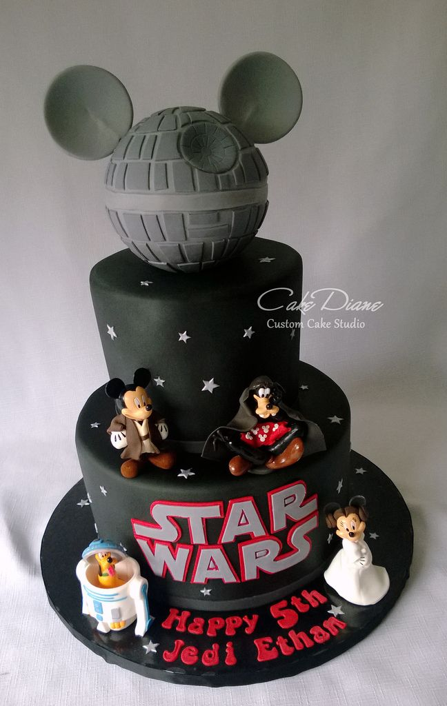 Disney Star Wars Mickey Death Star Birthday Cake