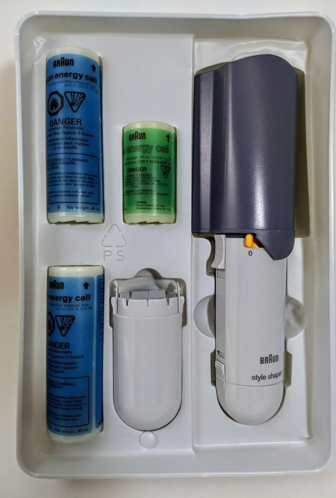 Braun New Salon Style Shaper Cordless Brush Hs 3 Plus W 3 Butane Energy Cells Salon Style Styling Brush Braun