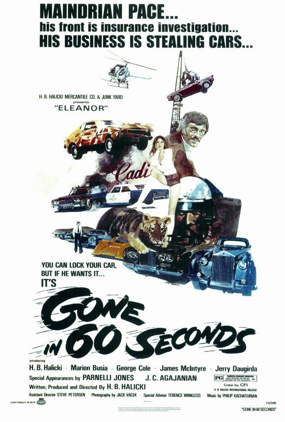 Gone In 60 Seconds 27x40 Movie Poster 1974 Gone In 60 Seconds