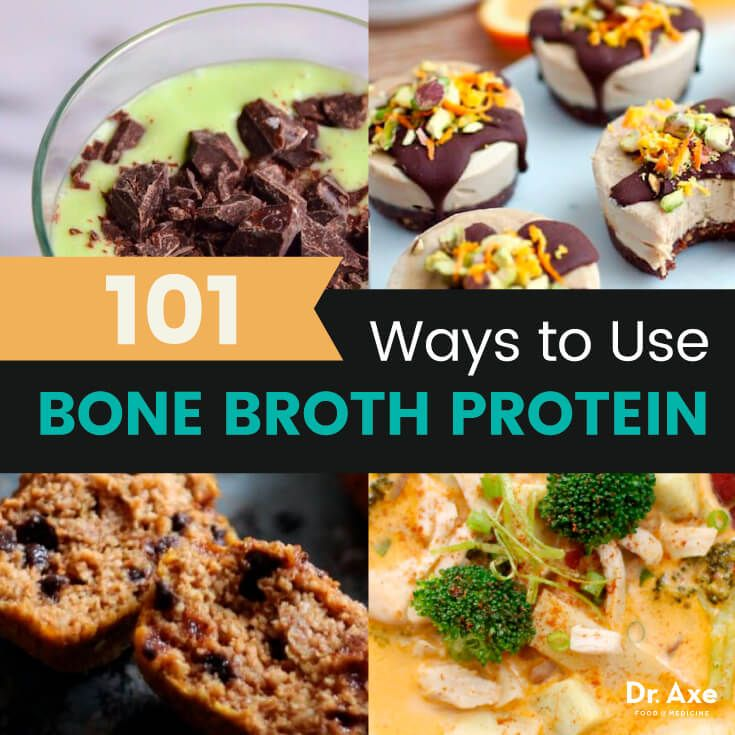 Bone broth protein recipes - Dr. Axe http://www.draxe.com #health #holistic #natural