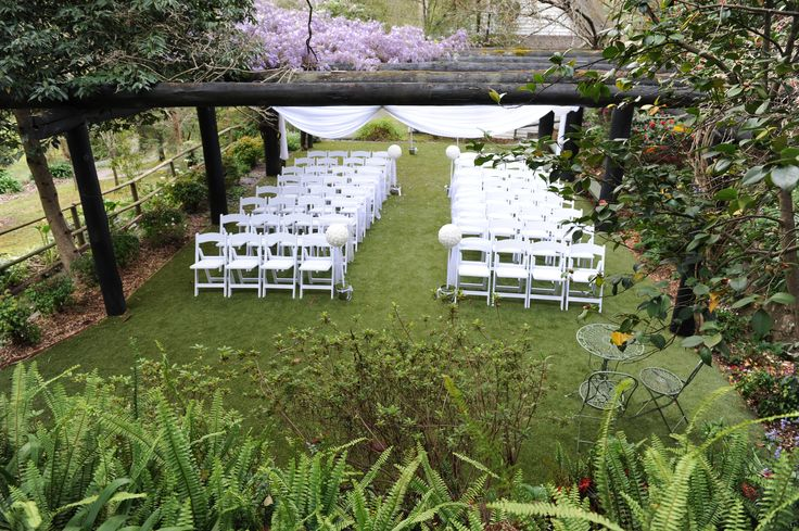 Deluxe Pergola set up #chateauwyuna #wedding #bride #groom #mrandmrs #weddingreception #ceremony #outdoors #40chairs #americanachairs #draping #white #outdoorceremony