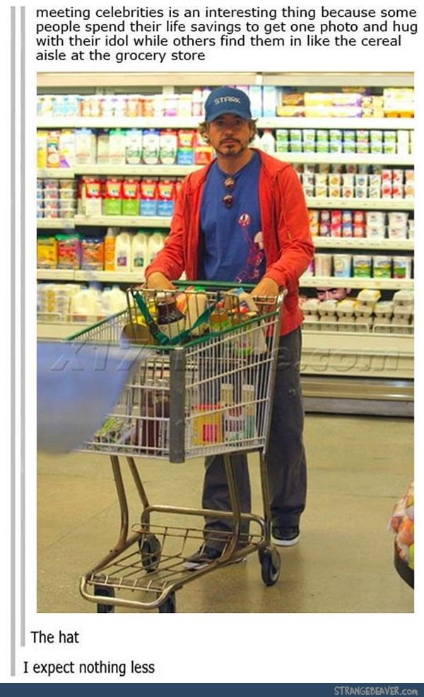 .... reminds me when I worked at a grocery store - we all swore that Mick Jagger was shopping, you never know.