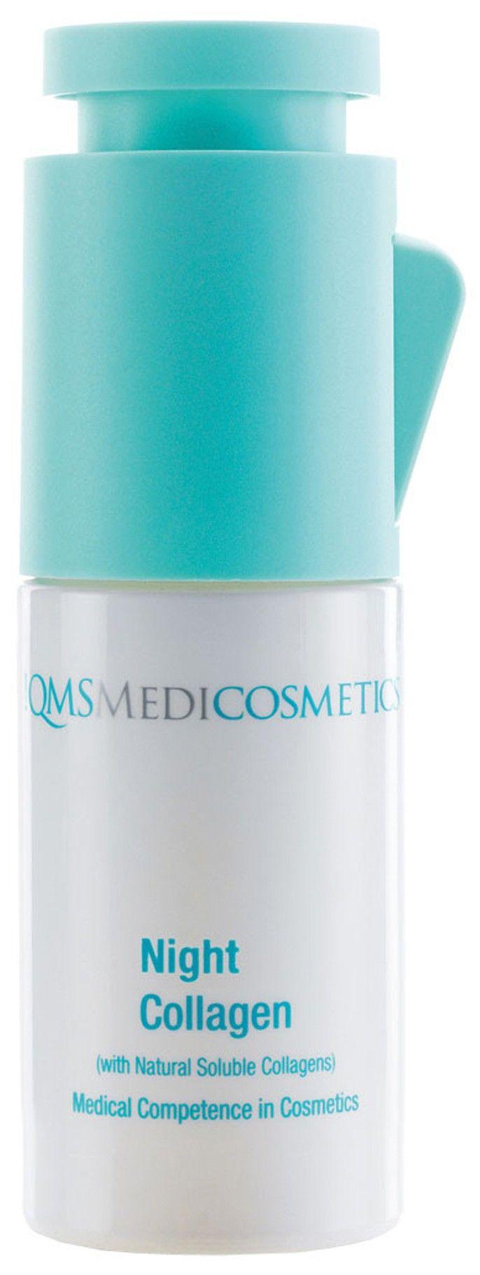 NIGHT COLLAGEN (na 15u) van QMS Medicosmetics ondersteunt het nachtelijke regeneratieproces van de huid. Oplosbare collagenen dringen in de huid en vormen een langdurig vochtreservoir. NIGHT REPAIR (na 15u) wordt gebruikt ter ondersteuning van het regenereren van de huid. Oplosbare collagenen dringen in de huid en vormen een langdurig reservoir. Door de kalmerende en wond helende componenten wordt de gestreste huid geharmoniseerd.