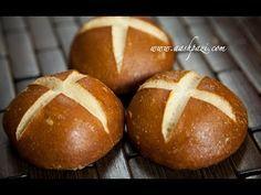 Receita de Pão para Hamburguer (Pretzel Buns) | Delicitas