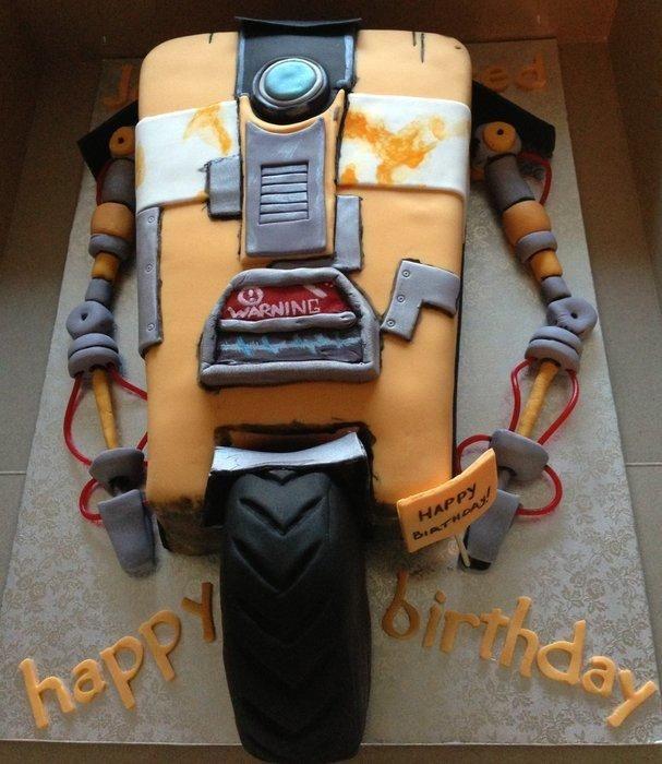 Claptrap Birthday Cake