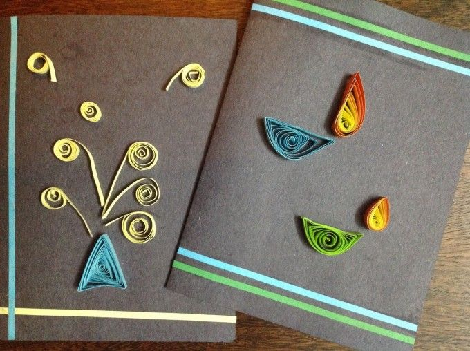 Deepavali-handmade-card - Quilled card for Diwali - 15+ Diwali card making ideas for kids - kandils, lamps, crackers, lanterns. easy to make at Home with kids and makes a great handmade gift  from ArtsycraftsyMom.com