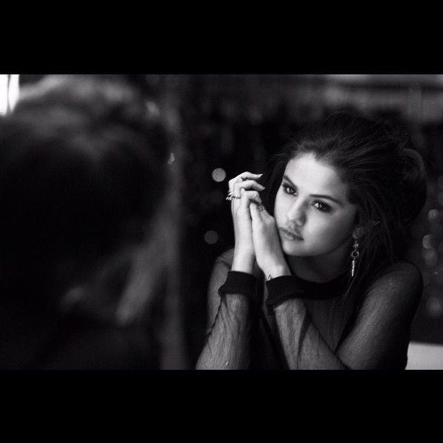Selena Gomez In Black And White
