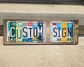 Custom License Plate Signs- Personalized US License Plate Signs- Custom Gifts- Unique Gifts- Retro Home Decor- Last Name Sign
