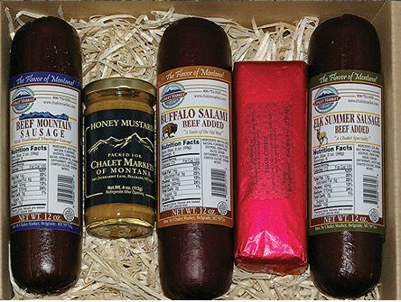 Best of the Big Sky with Mustard and Cheese Gift Box. Add an 8 oz. Edam cheese and a Chalet Honey Mustard to our popular Best of the Big Sky Gift Box.  Made in Montana.