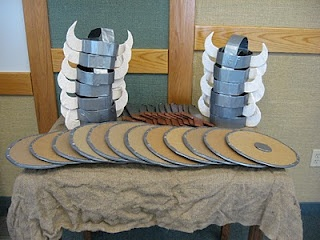 Make cardboard Viking hats and shields for your guests to play with before the movie - A unique movie night theming idea from Southern Outdoor Cinema.