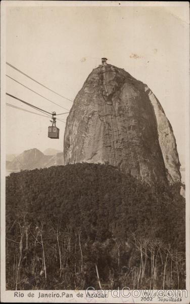 Pan de Azucar Rio de Janeiro Brazil   vintage postcards