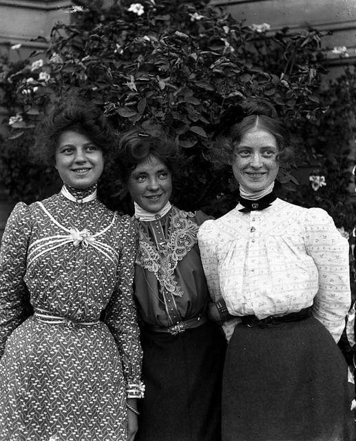 It is rare to see Victorians smiling in a photograph because most thought that it was undignified.  These three seem to be challenging that idea.