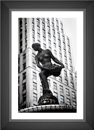 The Fountain Statue outside the Plaza Hotel, New York City - Framed version $297