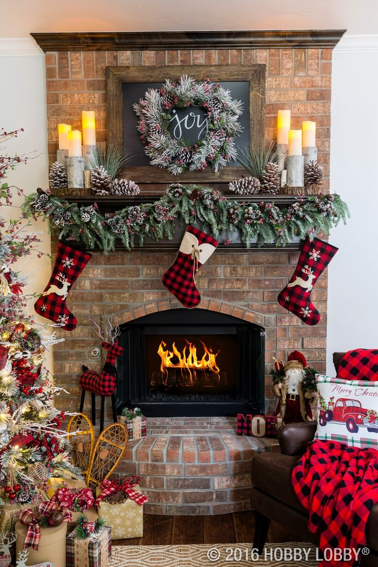 Cozy cabin charm meets traditional holiday by coupling warm and ...