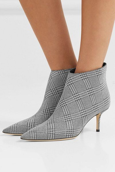 5a99a39a764d Jimmy Choo marinda 65 glittered prince of wales checked leather ankle  boots. #jimmychoo #shoes #booties