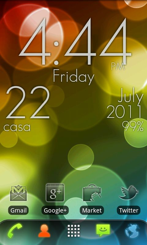 Download Blue Clock mobile wallpaper is compatible for Nokia