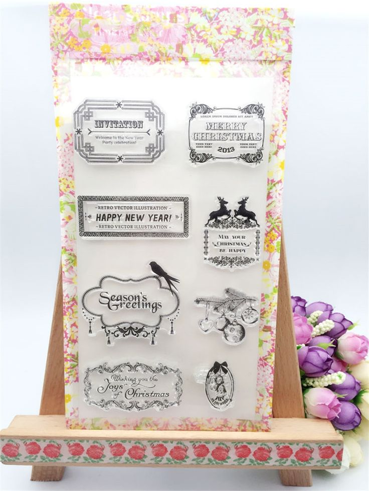 "4.39$  Watch now - http://ali24p.shopchina.info/go.php?t=32788212649 - ""New stencil diy scrapbooking clear stamp""""HAPPY new YEAR Greetings"""" for wedding paper card christmas gift for kid fun LL-156"" 4.39$ #aliexpressideas"