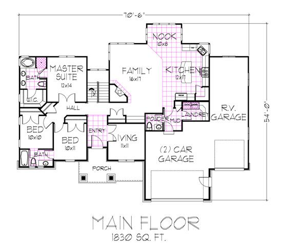 "Jack And Jill Bathrooms Floor Plans: This Plan Story ""master-down"" Blends A Spectacular Floor"