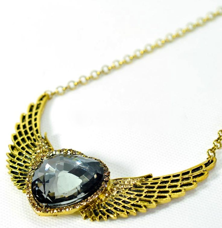 Heart Shape Wing Statement Necklace