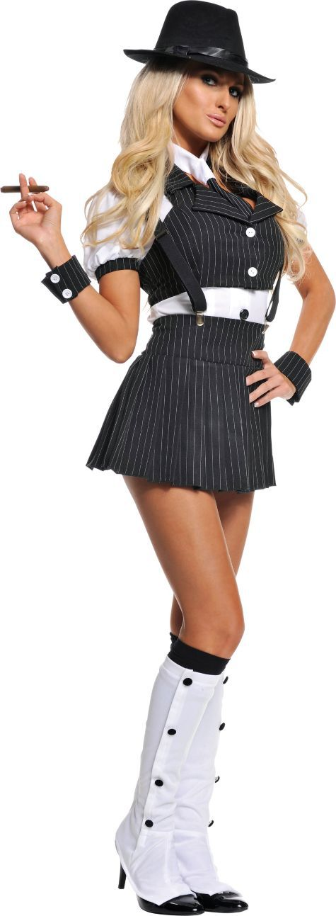 Adult Miss Mob Sexy Gangster Costume - Party City