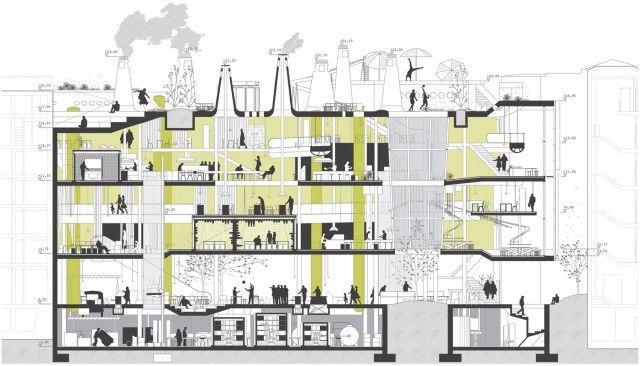 HIC Arquitectura » Irene Ayala > Laboratorio de gestión de alimentos en Madrid