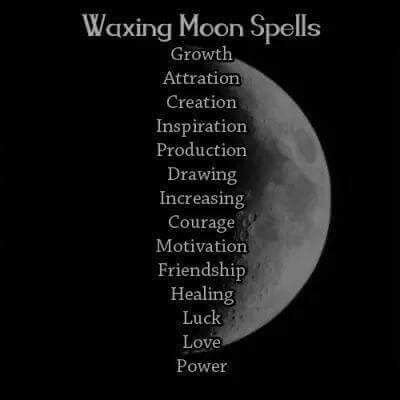 Spells Waxing Moon