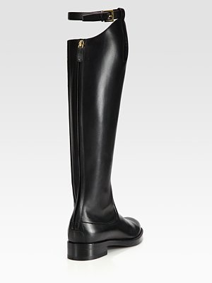 Gucci - Victoria Leather Knee-High Riding Boots - Saks.com