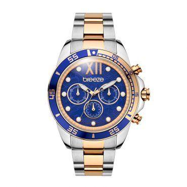 Γυναικείο μοντέρνο αδιάβροχo ρολόι BREEZE Starborn 710591.3 με μπλε καντράν και ροζ επίχρυσο ατσάλινο μπρασελέ | Ρολόγια BREEZE ΤΣΑΛΔΑΡΗΣ στο Χαλάνδρι #breeze #starborn #μπρασελε #watches #ρολόγια